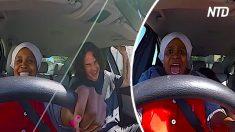 Cet homme accepte enfin d'enseigner à conduire à sa gouvernante, mais une fois qu'elle prend le volant, c'est trop drôle!
