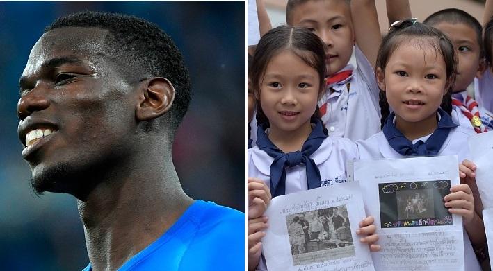 Paul Pogba dédicace la victoire des Bleus aux «vrais héros de la journée», les 12 enfants sauvés dans la grotte en Thaïlande