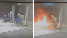 Un homme met le feu à la station d'essence pour se venger