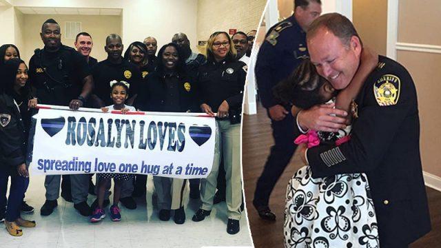 Cette petite fille de 8 ans est en mission: partager des câlins avec les policiers de chaque État