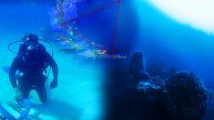 Une inexplicable épave non-identifiée découverte sous le Triangle des Bermudes par un chasseur de trésor plongeur