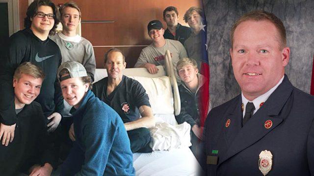 Un pompier qui lutte contre le cancer réalise son dernier souhait en chantant The Dance de Garth Brooks depuis son lit d'hôpital