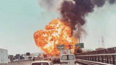 Italie : une gigantesque explosion d'un camion-citerne rempli d'acide fait un mort et 68 blessés