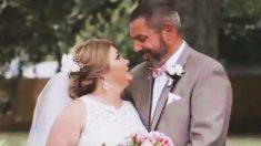 Souffrant d'une malade incurable, une mère de trois enfants épouse l'homme qu'elle aime lors d'une cérémonie de rêve