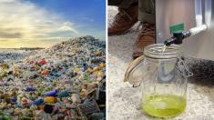 Une nouvelle machine qui transforme le plastique en carburant inventée par un Azuréen