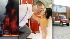 Un pompier abandonne sa cérémonie de mariage pour aller combattre un incendie domestique