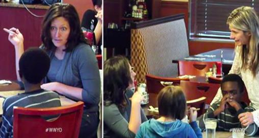 Expérience sociale: un fils adoptif est affamé pendant que mère et fille mangent – les spectateurs interviendront-ils?