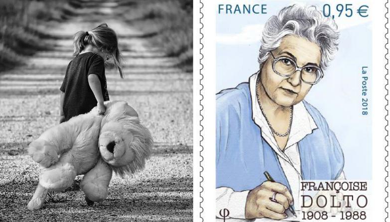 Un timbre de La Poste à l'effigie de Françoise Dolto, psychanalyste qui tendait à banaliser la pédophilie