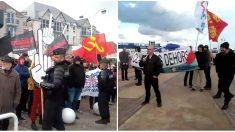 Normandie: face-à-face tendu entre militants anti et pro-migrants