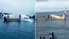 Un avion de ligne s'écrase dans une lagune du Pacifique et les 47 passagers survivent