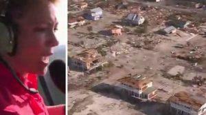 Vue saisissante d'avant et après le passage de l'ouragan Michael aux États-Unis