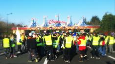 Les Gilets jaunes investissent le péage de Disneyland Paris