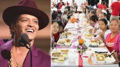 Bruno Mars nourrira 24 000 résidents d'Hawaï dans le besoin en faisant un généreux don à l'occasion de Thanksgiving