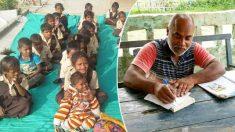 Un professeur mendie dans le train afin de mettre en place 5 écoles gratuites pour les enfants nécessiteux de l'Inde rurale