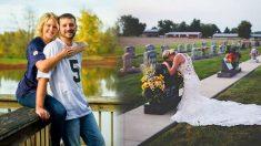 Une mariée en deuil prend des photos 1 an après que son fiancé ait été tué par un chauffeur ivre