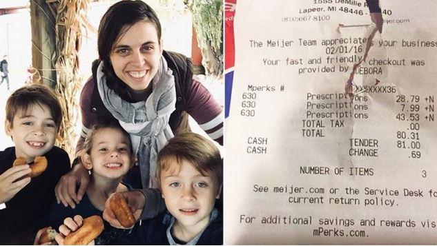 Les gens pleurent pour différentes raisons: une mère se met à pleurer quand un étranger paie sa facture de la pharmacie