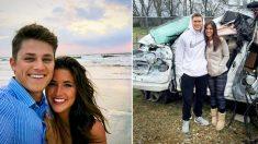 Ce couple croit que «son ange gardien» les a sauvés d'un accident probablement fatal