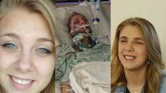 Une jeune femme a arraché ses propres yeux alors qu'elle était droguée, mais depuis, elle promet de ne pas abandonner