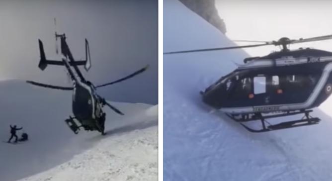 Vidéo: un sauvetage en hélicoptère impressionnant à Chamonix à 2200 mètres d'altitude
