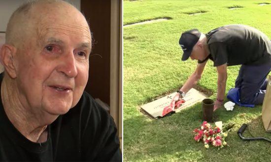 Un ancien combattant de la Seconde Guerre mondiale, âgé de 93 ans, prend 3 autobus chaque jour pour aller visiter la tombe de son épouse