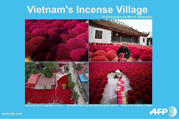 Au Vietnam, les «villages de l'encens» s'animent à l'approche des fêtes du Têt