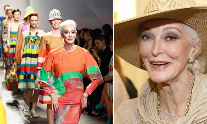 Le mannequin Carmen Dell'Orefice, âgée de 87 ans, partage ses astuces de beauté très simples pour la peau