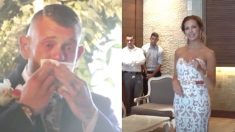Un marié sourd verse des larmes de joie quand la mariée le regarde et commence à «chanter» avec ses mains