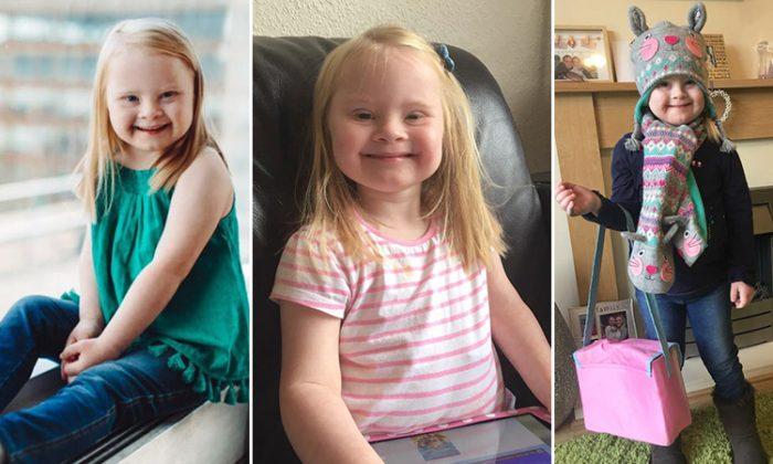 Une fillette de 7 ans porteuse de la trisomie 21 vit son rêve: être mannequin