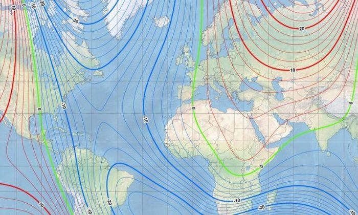 Le pôle Nord magnétique de la Terre est en train de se déplacer et se dirige vers la Russie
