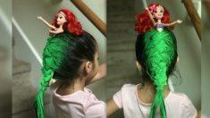 Inspirée par la Petite Sirène, une fillette remporte le prix de la Journée des cheveux fous