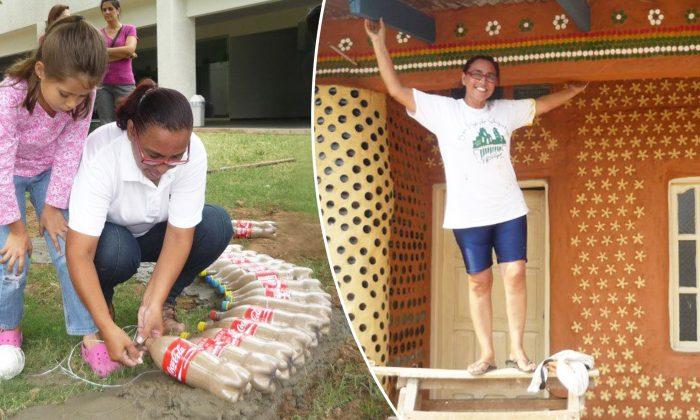 Une designer autodidacte construit des maisons avec des bouteilles en plastique pour ceux qui n'ont pas les moyens d'en acheter une