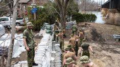 Est du Canada: Les inondations s'étendent,  l'armée prête main-forte
