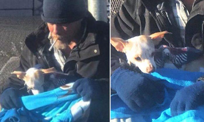 Un SDF voit une femme abandonner un chien sur l'autoroute et s'assure que le chien ne se retrouve pas sans abri comme lui