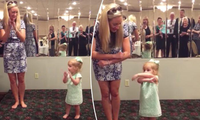 Une adorable petite fille de 2 ans interprète une gigue irlandaise après un enterrement, pour le plus grand plaisir de sa famille