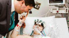 Une jeune mariée de 19 ans atteinte d'un cancer rêvait de se marier à l'hôpital alors qu'elle n'avait plus que quelques heures à vivre
