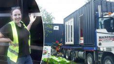 Une dame dépense plus de 72.000€ pour transformer un conteneur maritime en une mini-maison confortable et primée