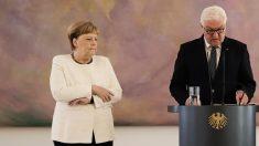 [Vidéo] Angela Merkel de nouveau prise de tremblements lors d'une cérémonie officielle
