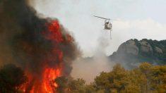 Espagne: incendie de forêt en Catalogne