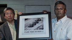 Tiananmen : une ONG française recrée la célèbre photo de l'