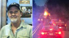 Un chauffeur sacrifie sa propre vie pour éloigner un camion en feu avant qu'il n'explose, sauvant ainsi d'autres vies