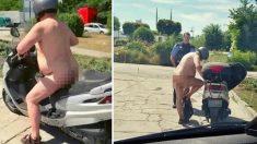Allemagne: en pleine canicule, un homme est arrêté complètement nu sur son scooter