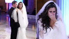 La mariée pense que le DJ a ruiné la première danse et pousse un cri quand elle regarde sur la scène