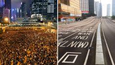 Les manifestants de Hong Kong ont nettoyé derrière eux après une manifestation de 2 millions de personnes