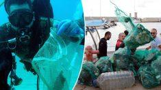 Un groupe de 633 plongeurs ramasse 1400 kg de déchets sous-marins, établissant un nouveau record mondial