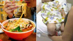 Une femme enceinte jette de la soupe brûlante sur une fillette parce que celle-ci faisait du bruit sur une table avec une cuillère
