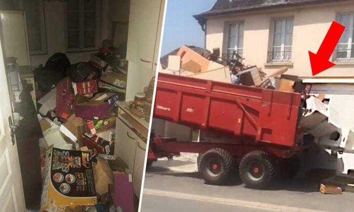 VIDÉO: Un propriétaire débarrasse les ordures laissées par des «locataires hors-la-loi», puis dépose un énorme tas de déchets sur leur pas de porte