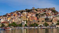 Kavala, juste en face de l'île de Thassos