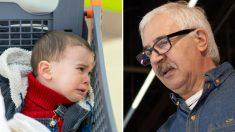 Une inconnue suit un grand-père et son «petit morveux» au supermarché et l'aborde. Mais sa réponse est surprenante