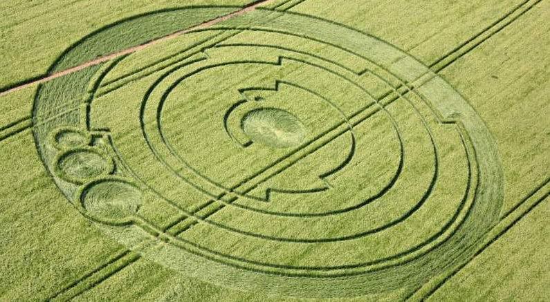 Nouvelle-Aquitaine: de mystérieuses figures géométriques apparaissent dans un champ de blé